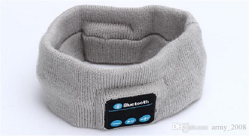 Стерео Bluetooth Беспроводная Гарнитура Bluetooth Музыка Head Wrap Hat Cap Женщины Мужчины Спорт Бег Фитнес Йога Стрейч Оголовье Наушники