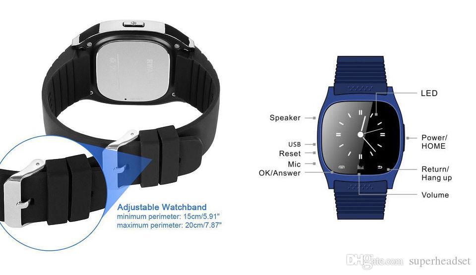 Bluetooth Smart Watch Sport M26 Smartwatch Sync телефонные звонки анти-потерянный для iPhone и Android телефонов смартфоны Smart Electronics