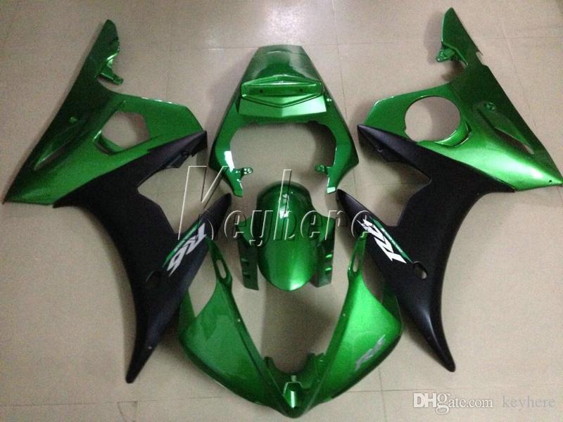 New hot moto parts fairing kit for YAMAHA R6 2003-2005 green black fairings set YZF R6 03 04 05 IY34
