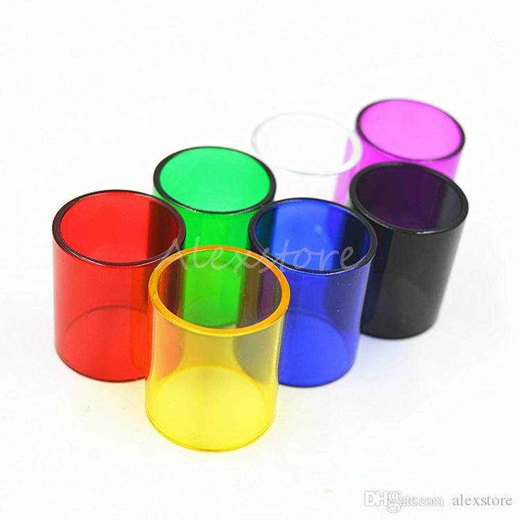 Pyrex Replacement Glass Tube Colorful Replacable Caps Sleeve Tube for TFV8 Big BABY Coil RBA Tank Atomizers