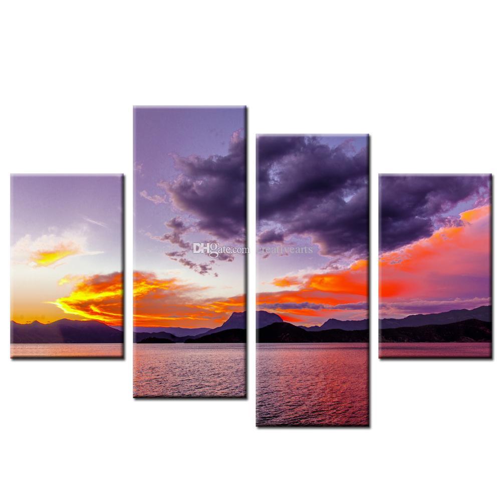 Satın Al Bulut Resim Tuval Boyama Güzel Doğa Manzara Tuval Baskılar