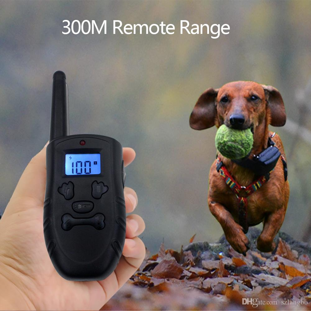 Anti-barking Dog Training Collar Harmless Rechargeable and Rainproof 330yd Remote Distance Dog Collar Suit for All Size Dogs 10-100 Pounds