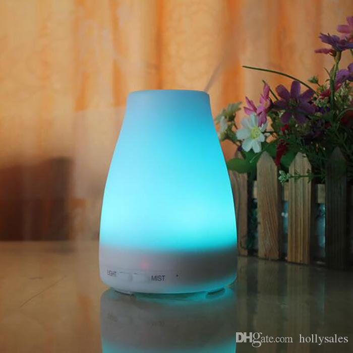 2017 new hot 12V 7w aroma diffuser Colorful night light ultrasonic mute aromatherapy essential oils diffusers home diffuser