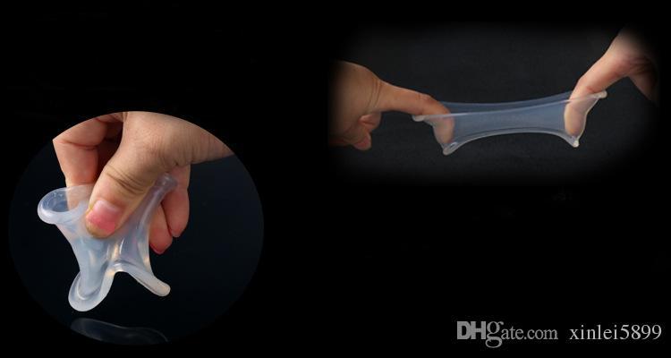 Scrotum Silicone Ball Civière Testicule Bondage Sex Toys Pour Hommes Pénis Anneaux Pour Temps Retard Cockrings Chastity Dispositif