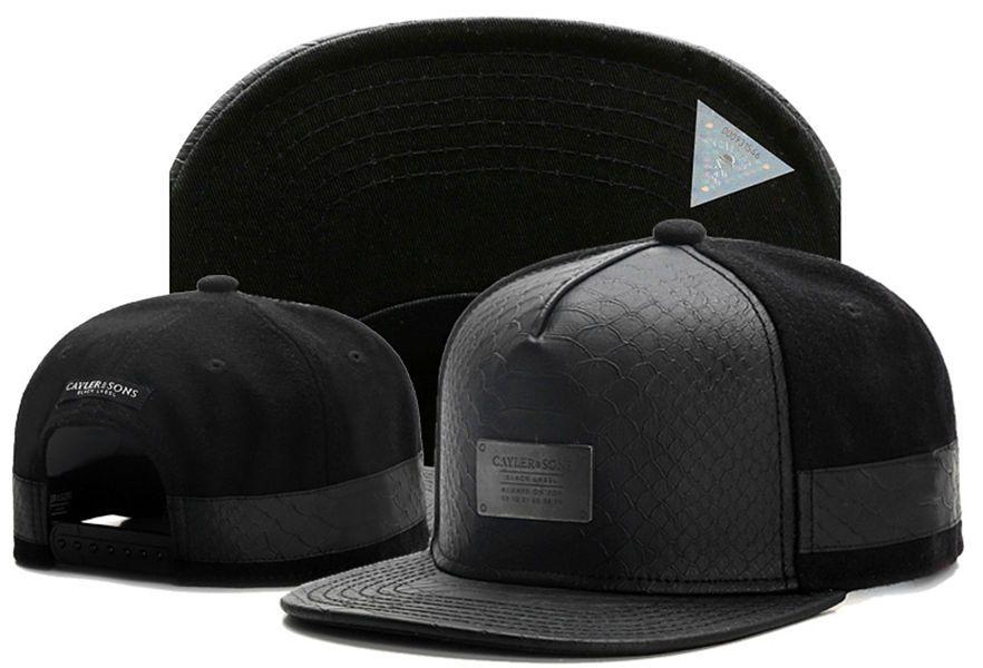 2017 New Style Hip Hop Cayler   Sons Metal Logo Snakeskin Snapback Hats  Hiphop Street Gorro Bone Gorras Planas Swag Baseball Caps Custom Fitted  Hats Design ... 168b825ec7a