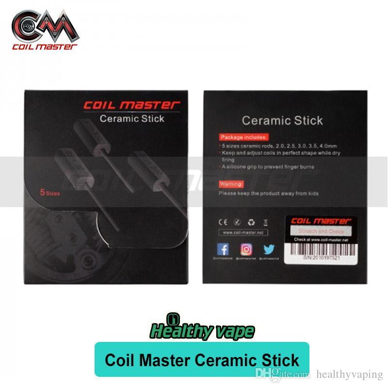 Original Coil Master Ceramic Stick con 5 tamaños de varillas de cerámica de 2mm 2.5mm 3mm 3.5mm 4mm para la reconstrucción de la herramienta Coil Maker