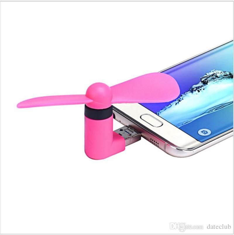 Mini Micro USB portátil, ventilador de teléfono móvil para teléfono Android Samsung HTC LG Iphone Opp bag pacakge