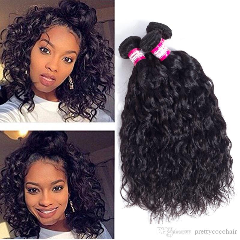2018 Brazilian Straight Water Curly Deep Body Wave Virgin Hair 8a