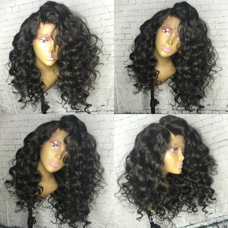 Spitzefront Menschliches Haar Perücken mit Baby-Haar natürliche Welle volle Spitze Perücken gebleichte Knoten wellig brasilianische Perücke reines Haar