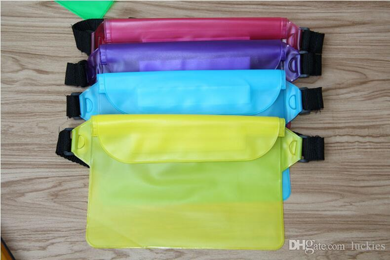 PVC Waterproof Waist Packs Multifunctional Riding Phone bag case Accessories Supplies Gear Item Product Bag For iphone 7 6s 6s plus