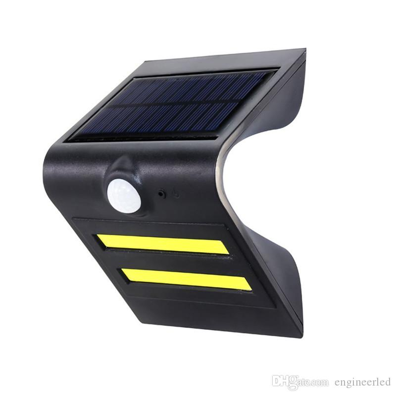 2017 /Pack Smart Cob Led Solar Light Outdoor Solar Powered Motion Sensor  Security Wall Light Garden Three Modes Bright Lamp From Engineerled, ...