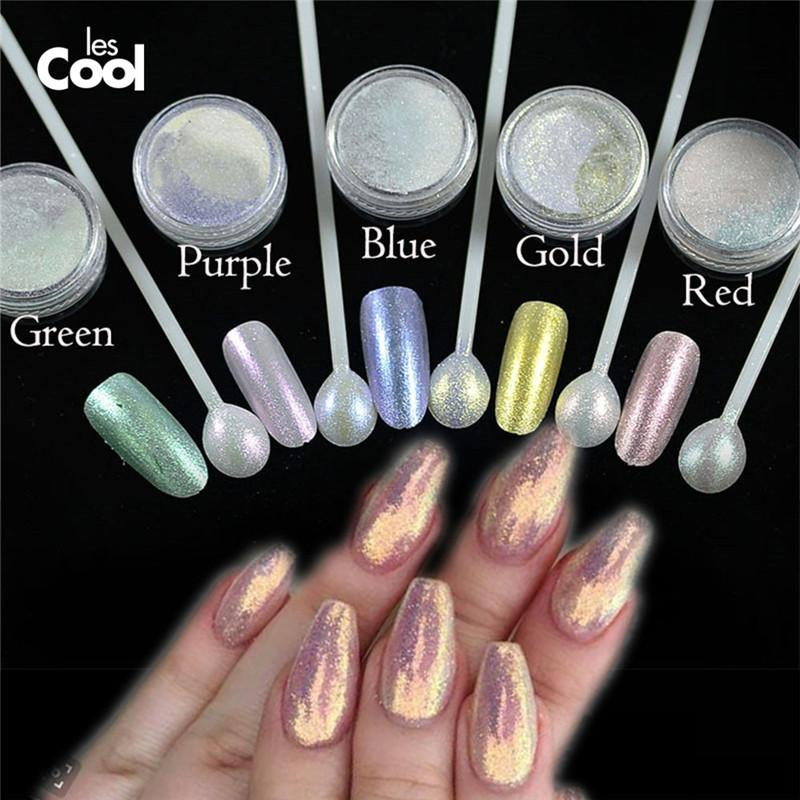 Wholesale Laser Nail Art Powder Chameleon Pigment Mermaid Nail ...