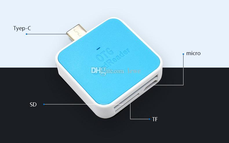 Brand new mobile phone multi function type c micro usb sd card reader OTG universal 3.0 high speed TF SD card reader