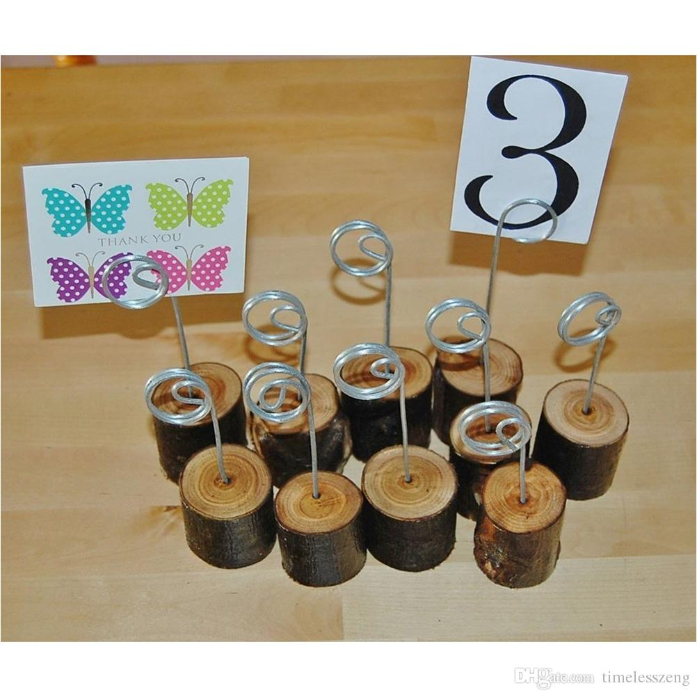 Wooden Base Memo Photo Holder Card Paper Note Clip Wedding Place Name Card Holders Wedding Decoration Party Supplies