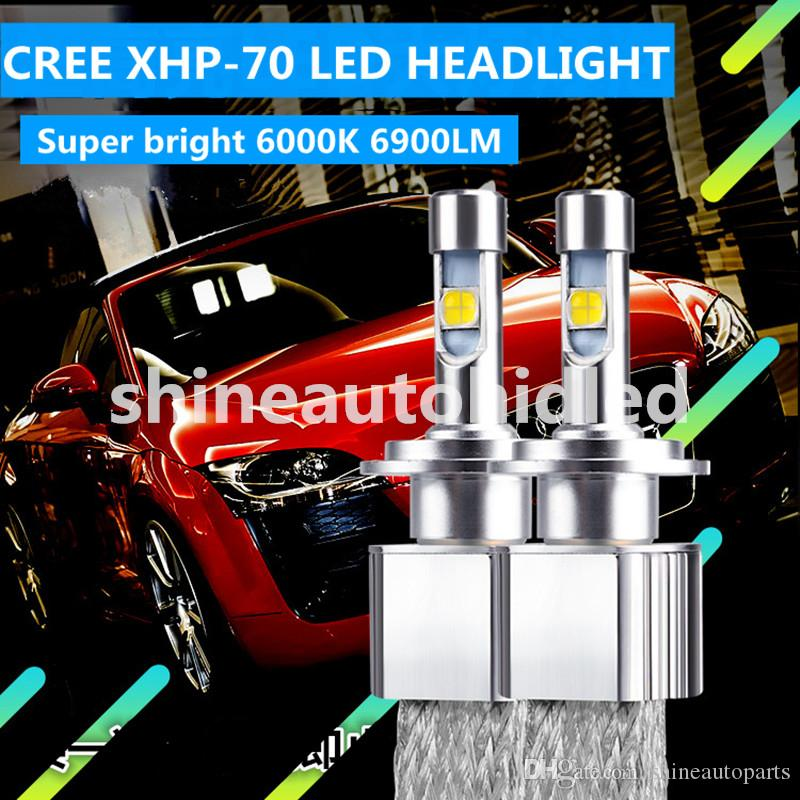 built-in EMC Cree XHP-70 LED Headlight Kit car Bulbs 9005 9006 9012 H4 H7 h9 H11 110W 13200LM 6000K Beam Replace xenon Halogen lamp