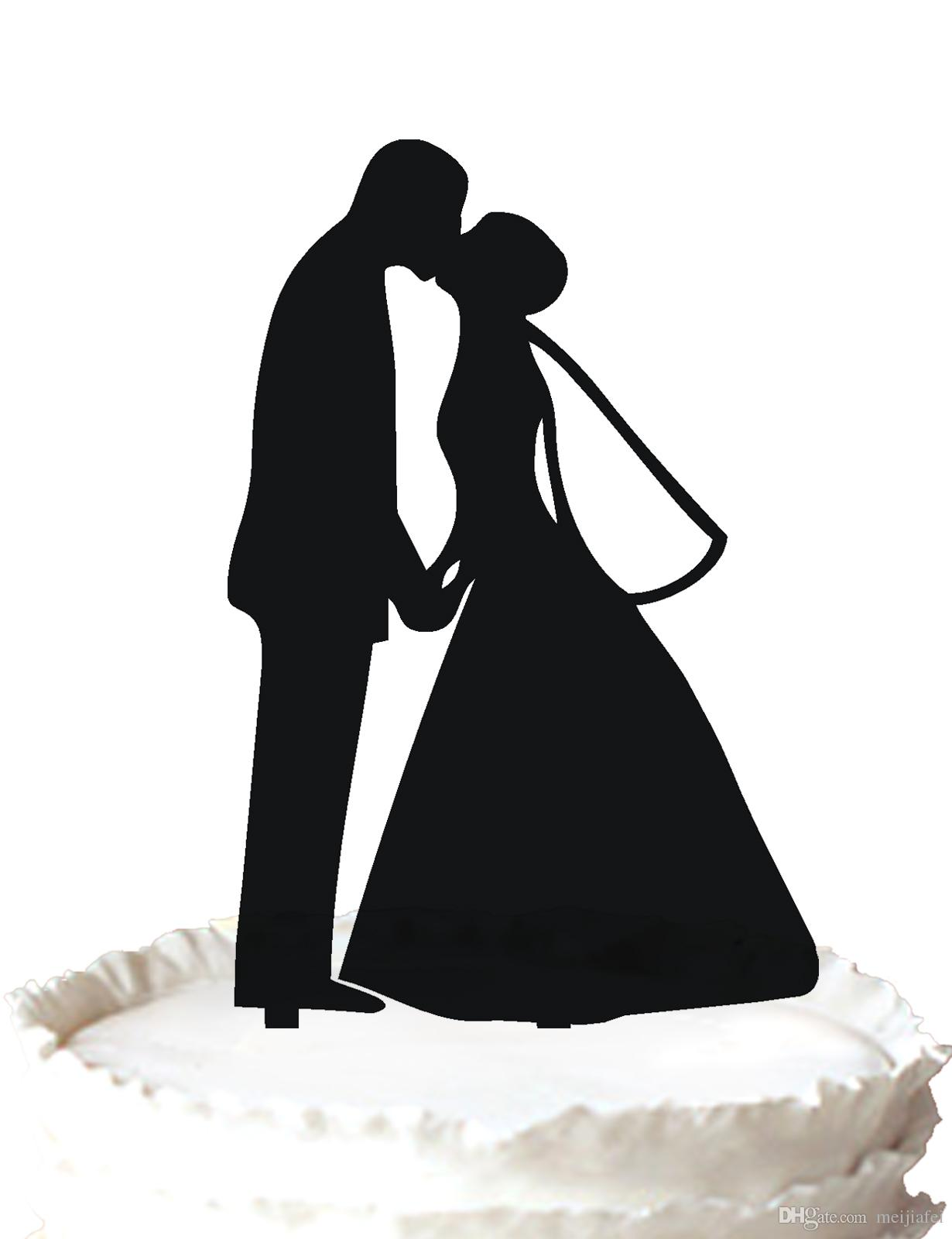 2018 wedding cake topperromantic bride and groom kissing wedding 2018 wedding cake topperromantic bride and groom kissing wedding silhouette cake topperfor option from meijiafei 191 dhgate junglespirit Gallery