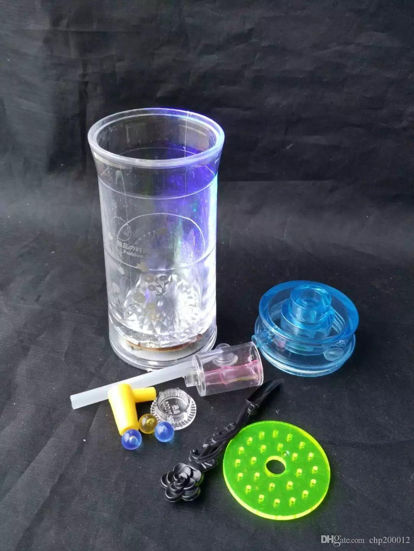 Klassische Acryl Drucken Huka, Großhandel Glas Bongs Zubehör, Glas Wasserpfeife Rauchen, freies Verschiffen