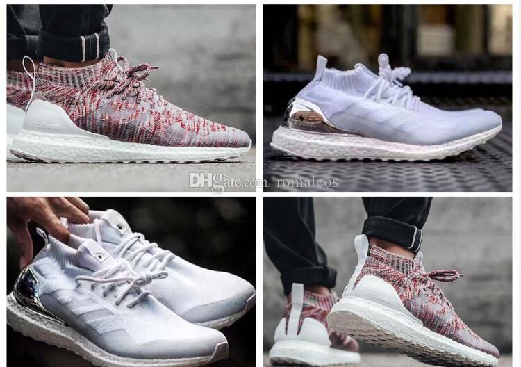 a5af812c73e50 2017 White Rainbow Kith X Ultra Boost Mid Multicolor Uncaged Primeknit  Running Shoes Sports Sneakers Men Women Primeknit Runner UltraBoost Sports  Shorts ...