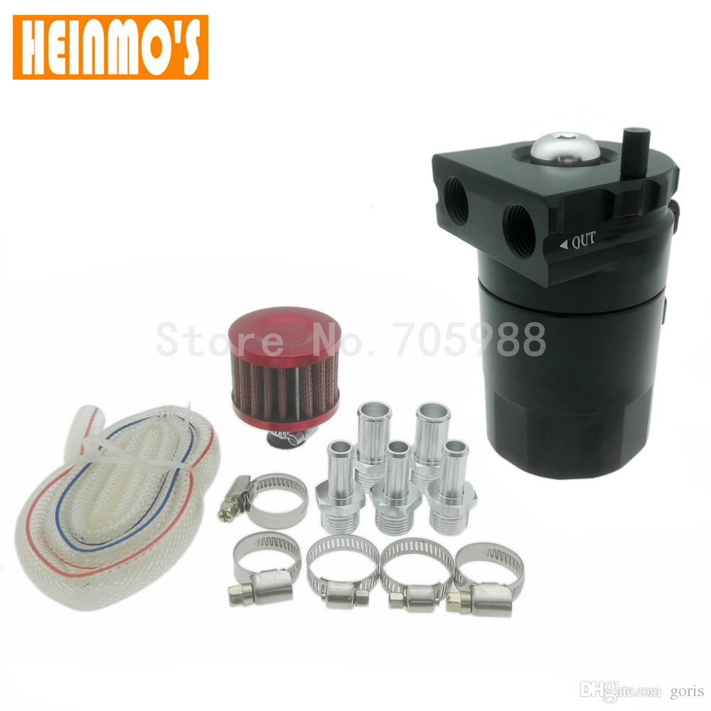 Black Brand New Engine Spare Parts Reservoir Oil Tank Aluminum Oil Catch Can With Breather Filter Baffled