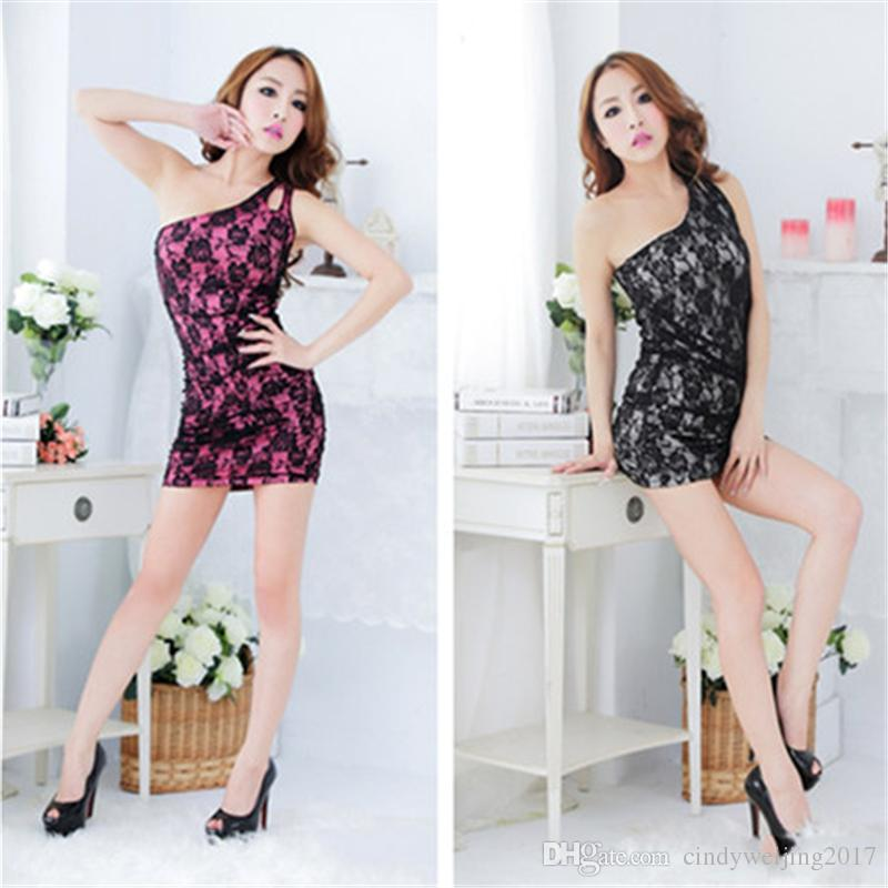 2dab17324f Women Lingerie Sexy Lace Single Condole Belt Skirt Tight Dress Night ...