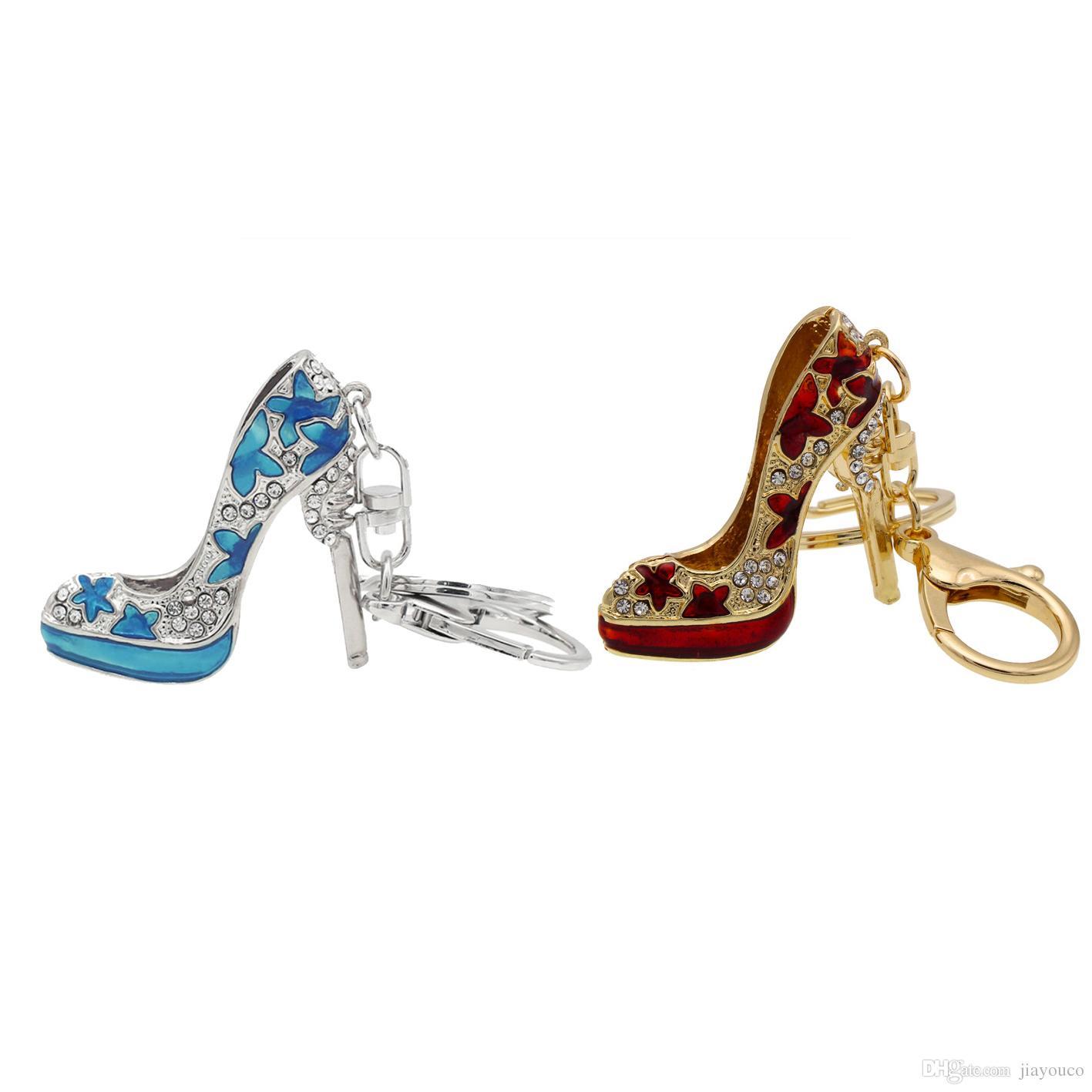 Compre Zapatos De Tacón Alto Llavero De Metal Accesorios De Moda Zapatos  Llaveros Llavero Llavero Regalos Para Los Amantes A  4.93 Del Jiayouco  46d83cbeca51