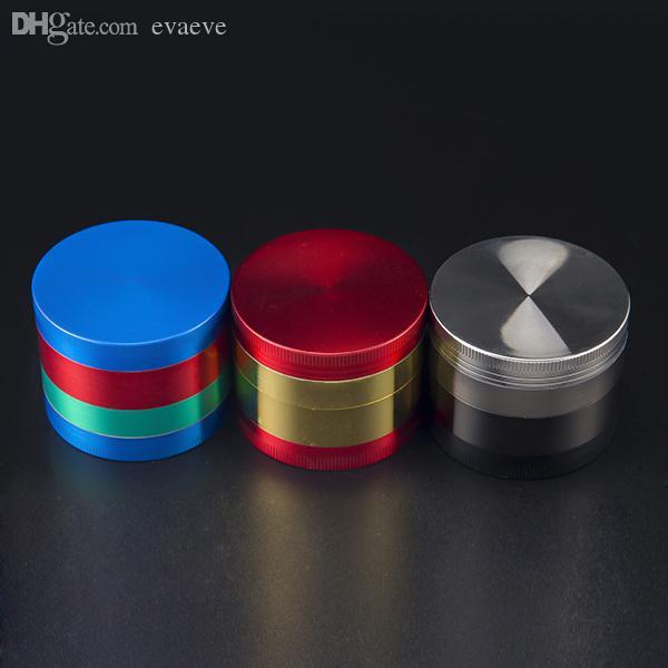 DHl Haute qualité 52 * 35mm 4 Pièces De Chrome Concasseur Coloré Alliage De Zinc Herbe Broyeur Fumer À Base De Plantes Broyeurs