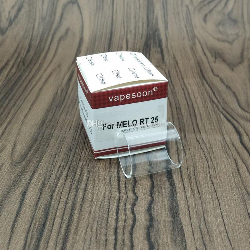 VapeSoon استبدال الزجاج أنبوب ل Eleaf MELO 300 3.5ml 6.5ml MELO RT 22 / MELO RT 25 / OPPO RTA / I JUST S Glass Retail Package Package