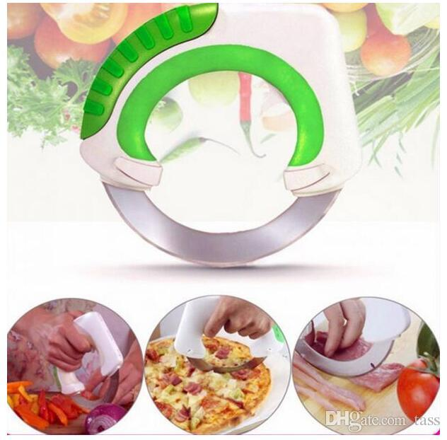 Circular Knife Round Shape Wheel Rolling Kitchen Tool With