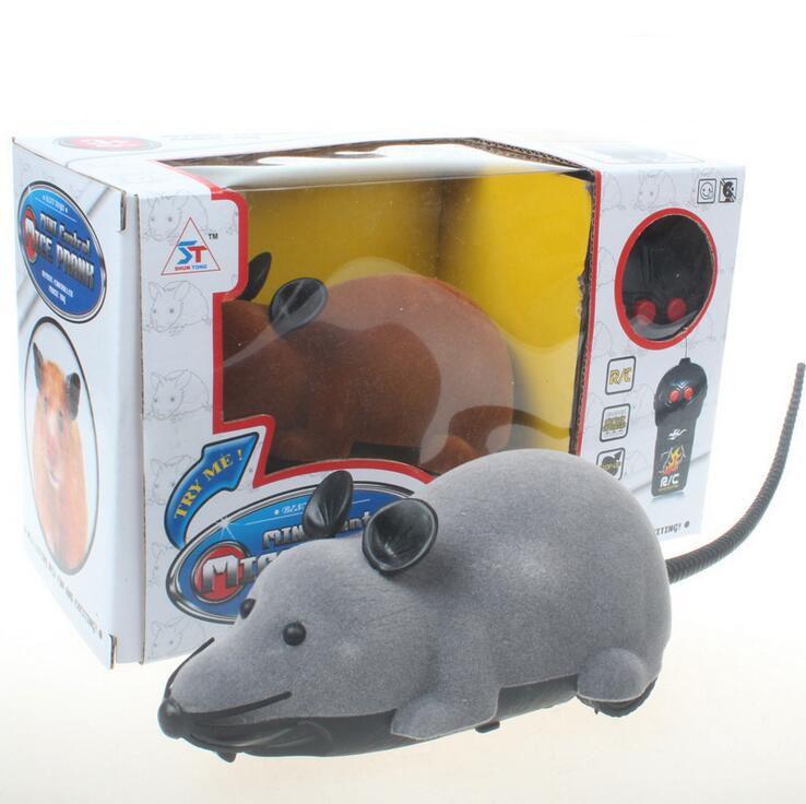 원격 제어 무선 컨트롤러 RC 쥐 마우스 쥐 동물 장난감 고양이 개 고양이 고양이 티저 재생 애완 동물 장난감 참신 재미있는