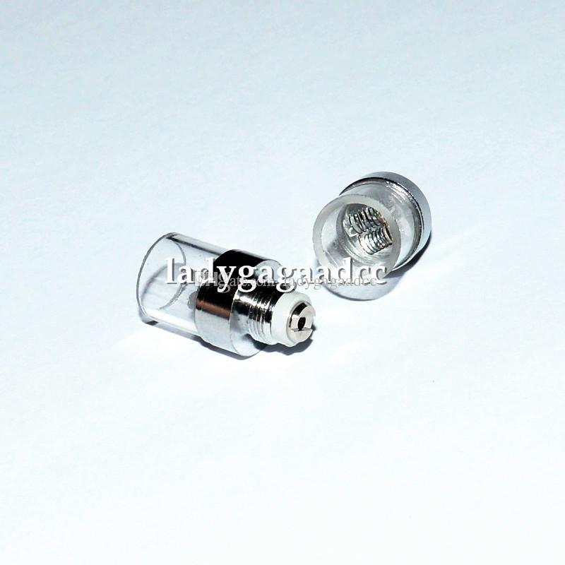 Nuovo arrivo doppia bobina di quarzo con tubo di quarzo vetro globo atomizzatore cannoni di bowling atomizzatore vetro cera atomizzatore cera ecigs bobine