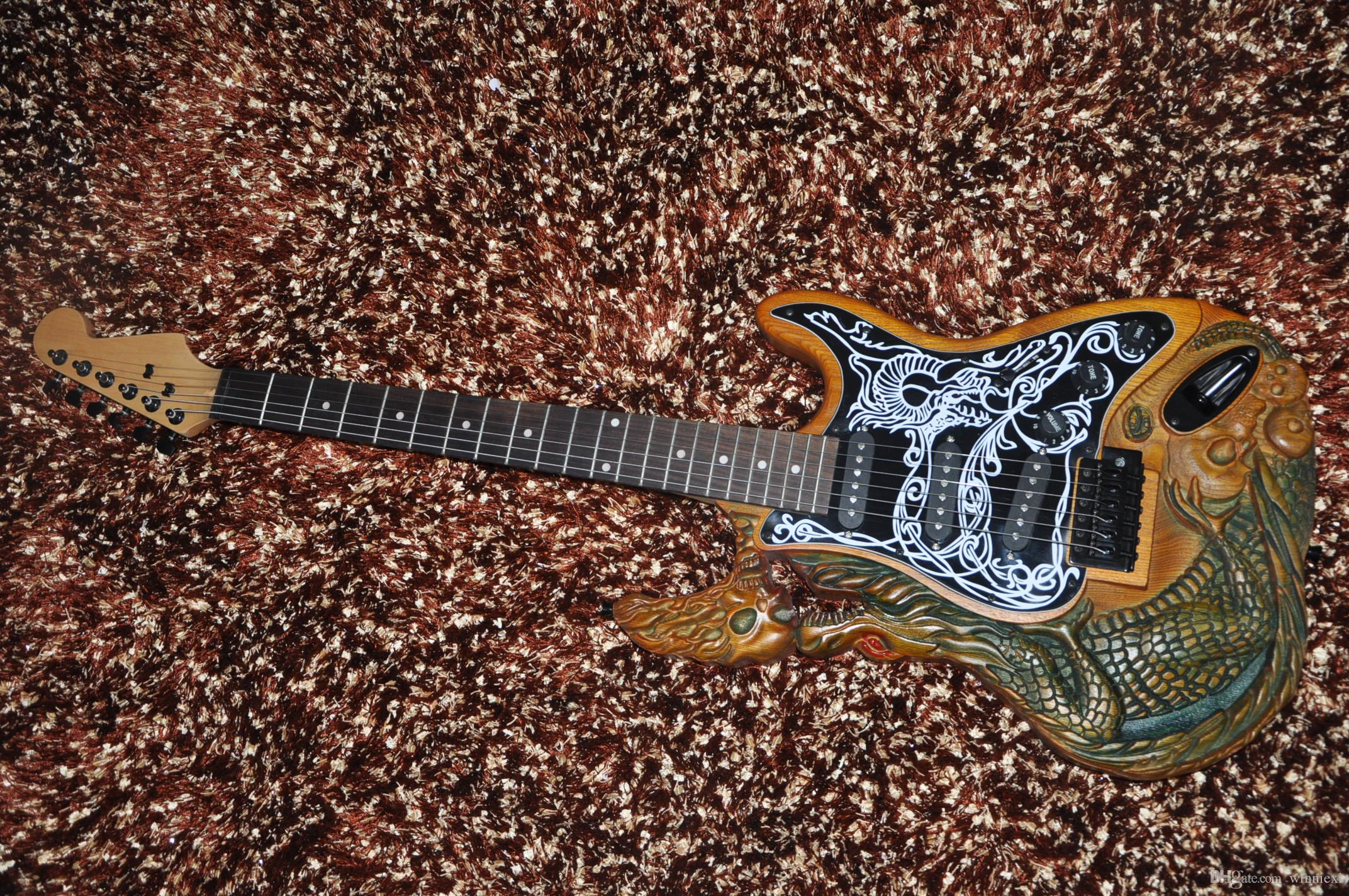 ghost guitar carved body st electric guitar china made high quality low cost in stock buy. Black Bedroom Furniture Sets. Home Design Ideas