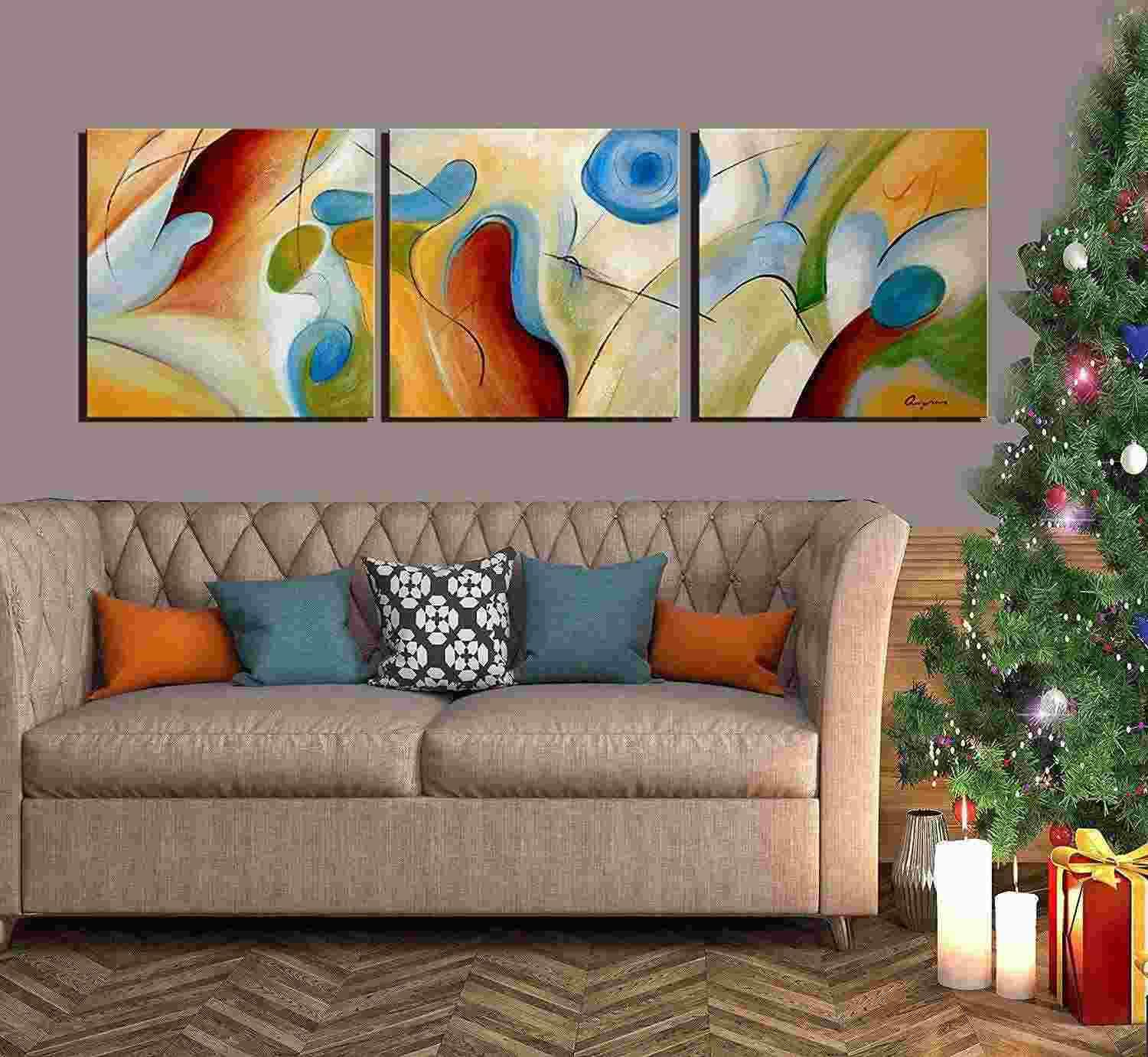 2019 100 hand painted abstract oil painting on canvas dream whirlpool wall art for living room for Oil painting for living room