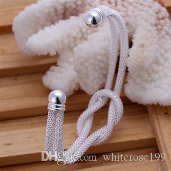 Wholesale  - 小売価格最低価格クリスマスプレゼント、送料無料、新しい925シルバーファッションブレスレットB091