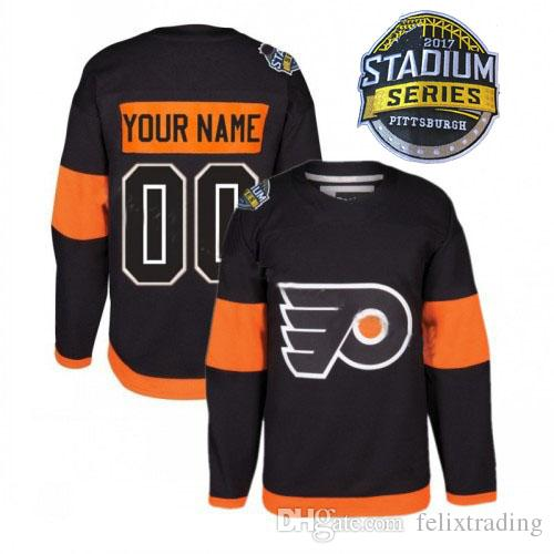 29b617714 2019 Custom 2017 Stadium Series Philadelphia Flyers Hockey Jersey  Personalized Flyers Jerseys Any Name And Number S 5XL All Stitched  Customized From ...