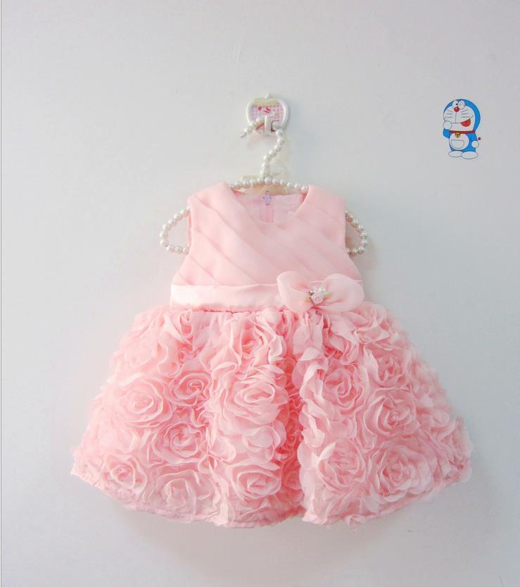 94ea9e1f6 2019 Wholesale 2016 Summer Babies Dress Flower Girl Infant Dresses ...