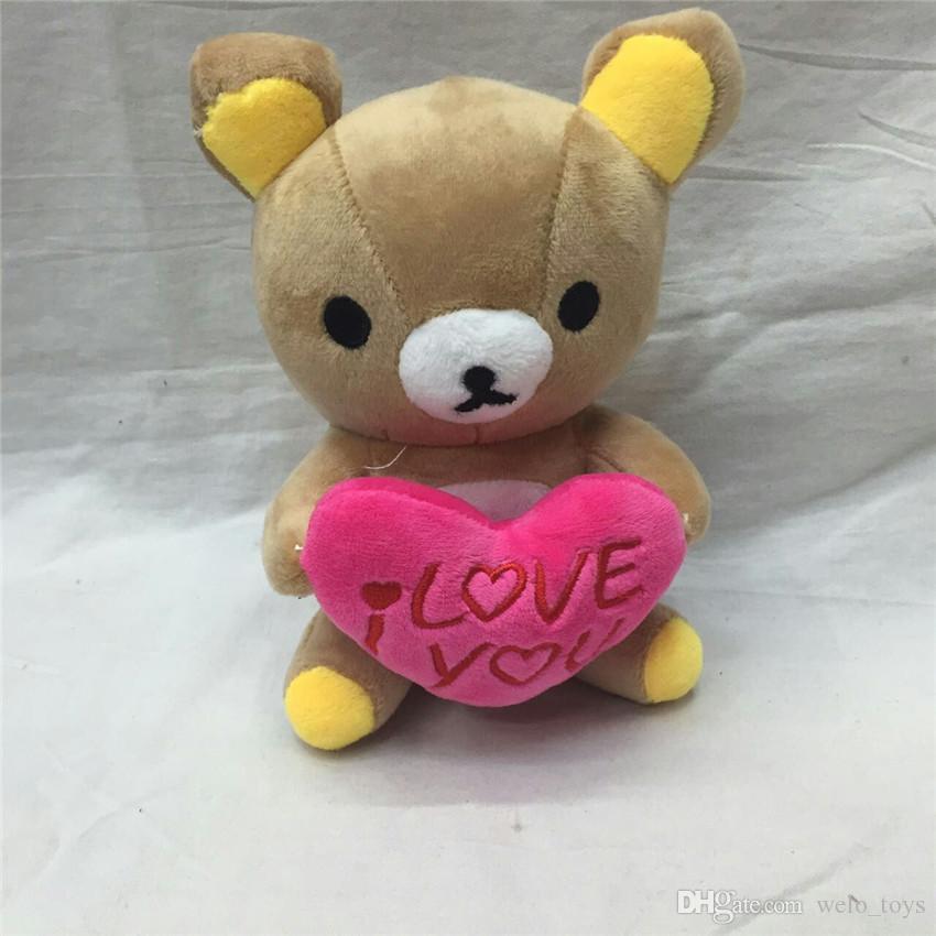 Симпатичные Rilakkuma медведь плюшевые игрушки 18 см легко медведь мягкие куклы мультфильм животных свадебный подарок кукла для детей