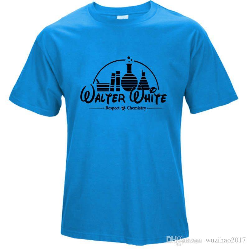 2017 Funny T-shirts Men 100% Cotton Tshirt Short Sleeve Tee shirt Breaking Bad Tops Heisenberg T shirts