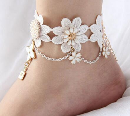 anklet zypertglqpcb china glam pearl color silver gold beaded bracelets product anklets popular plated