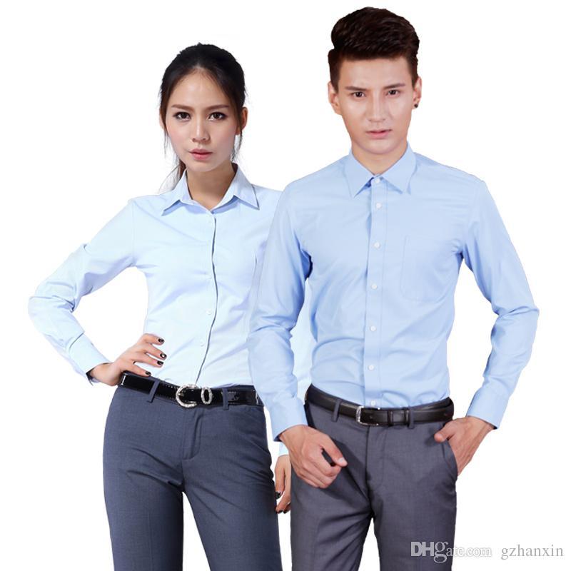 2017 2017 New Men'S Business Shirts Slim Fit Casual Blouse Women ...