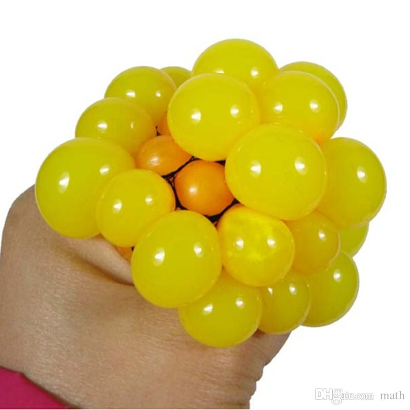 Anti Stress Face Reliever Grape Ball Autism Mood Squeeze Relief Healthy Funny Tricky Toy Geek Gadget Decompression Toys Halloween Jokes