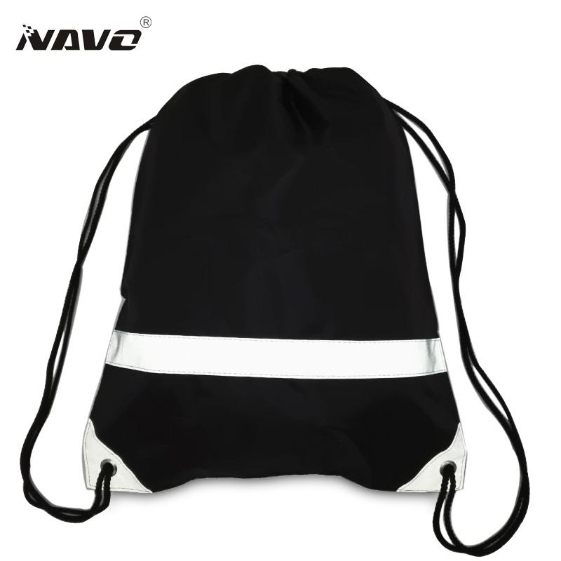 Wholesale Fashion Drawstring Backpack With Reflective Strap Simple Classic  Draw String Solid Cinch Bag Back Bag For Travel Out Door Daypack Swissgear  ... 1448a5b04466f