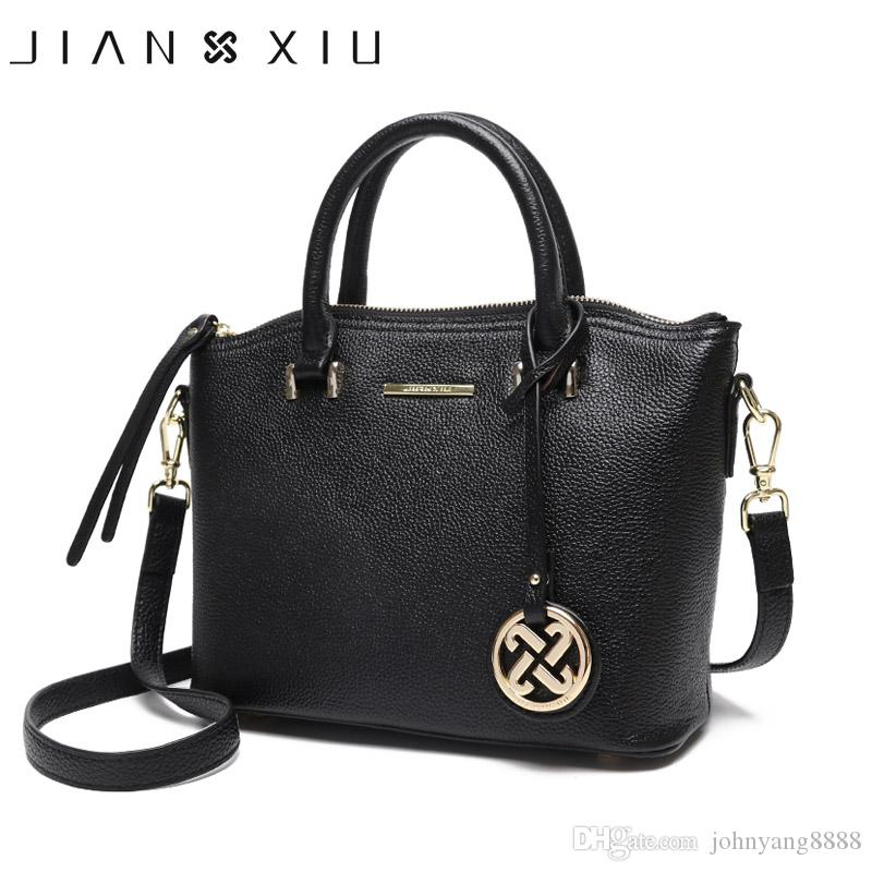 47635e424743 JIANXIU Brand Genuine Leather Handbag Female Casual Leather Tote Top ...
