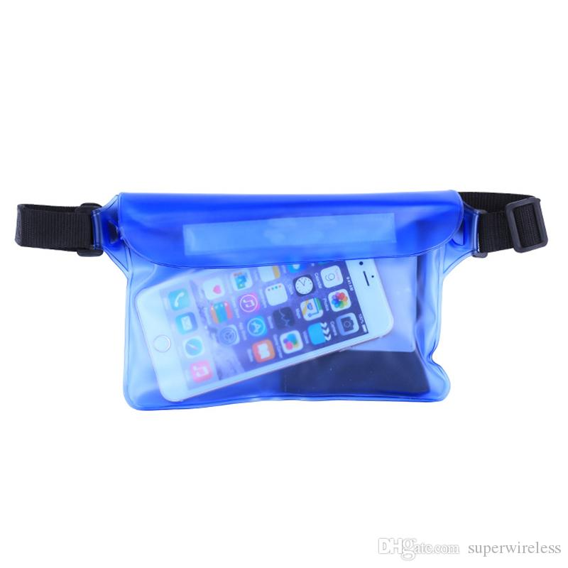Underwater Sports Bag 21.5*15cm Waterproof Big Waist Case Cover For iphone 8 7 6Samsung S8 Plus Note 5