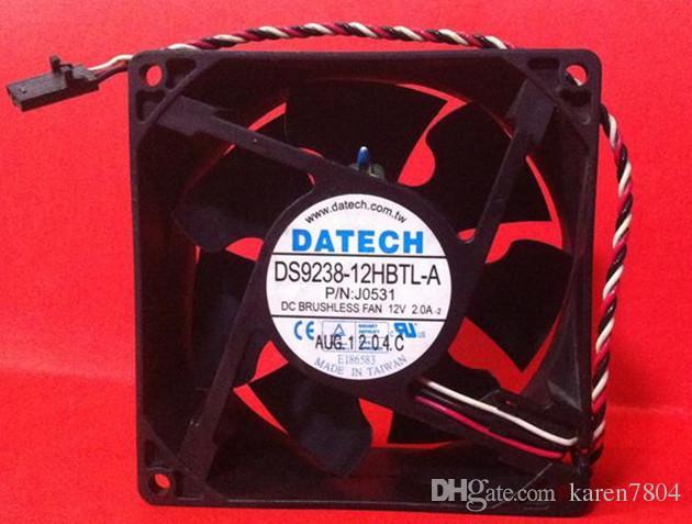 Original 9CM 92 * 92 * 38MM DS9238-12HBTL-A DC12V 2.0A pour ventilateur de refroidissement d'ordinateur de bureau DELL