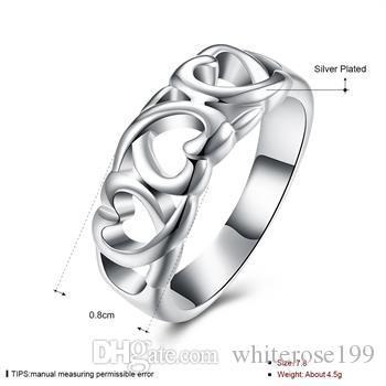 Hurtownie - detaliczna najniższa cena prezent świąteczny, Darmowa wysyłka, nowy pierścień mody 925 R090
