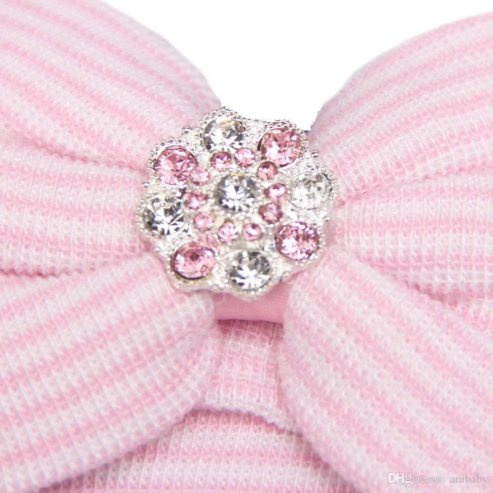 Newborn Baby Cute and Pretty Beanie Hat With Big Bow Baby Infant Girl Soft Warm Hospital Hat Cap for 0-3 Month H001
