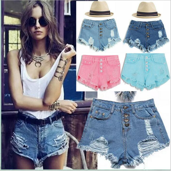 e8465c9af5 2019 Denim Shorts Tassel High Waist Jeans Women Casual Burr Hole Hot Pants Skinny  Retro Fashion Pants Slim Summer Sexy Ripped Cutoff Shorts B3630 From ...