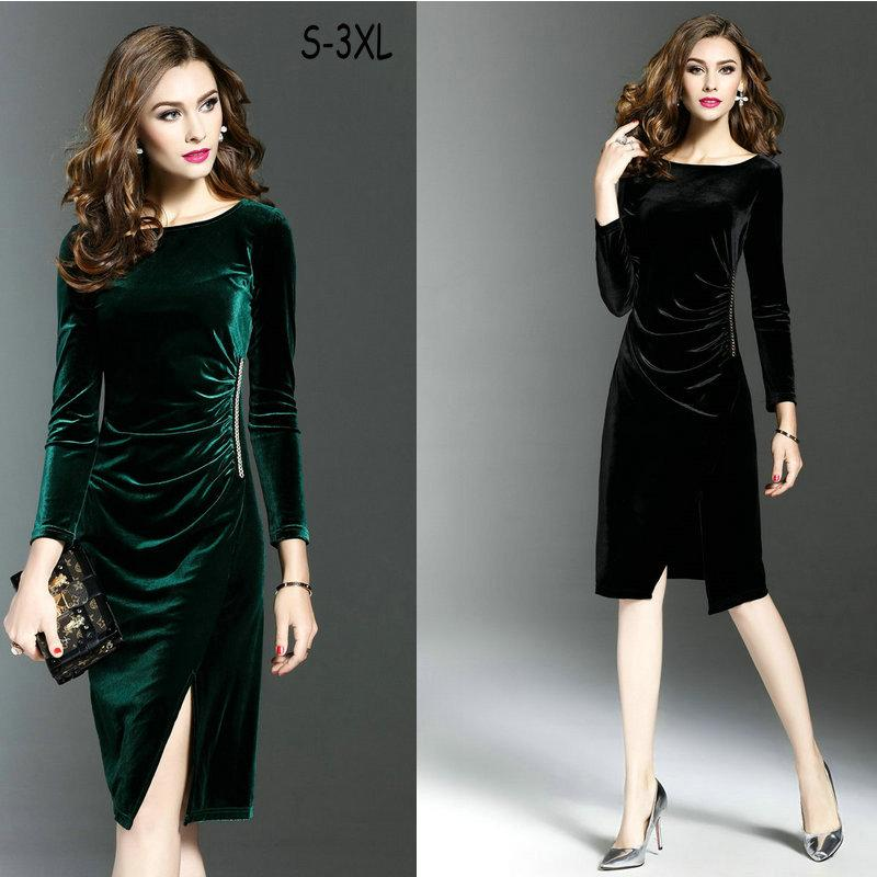 2019 Plus Size S 3XL Business Dress Long Sleeve Women\'\'S Dress ...