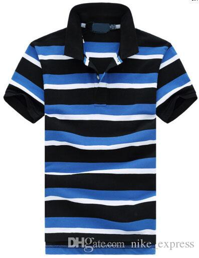 2037cf6b3610 Look Men Striped Polo Shirt Camisa Masculina Men s Fred Polo Shirts ...