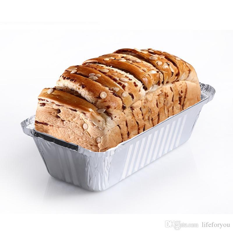 Aluminiumfolie Steam Table Pfannen, hausgemachte Kuchen, Brot, Hackbraten und Quiche Backwerkzeug Einweg, Kapazität 630 ml, 10 Pack